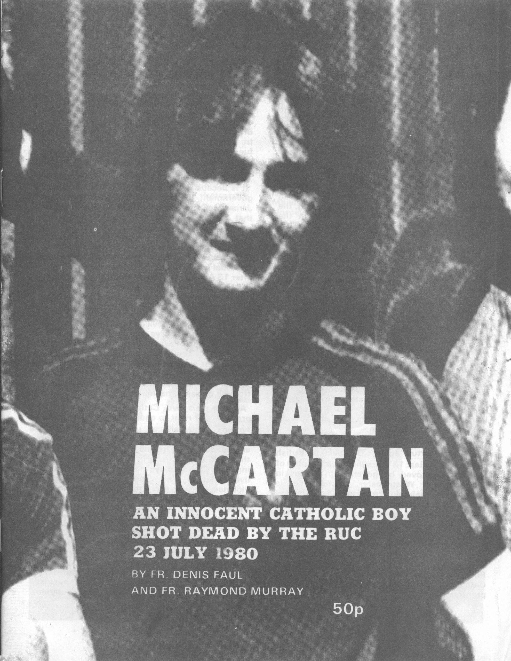 michael mccartan an innocent catholic boy shot dead by the ruc